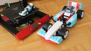 Riesiges LEGO Formel 1 Auto aus dem 3D Drucker - TEVO FLASH