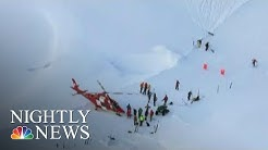 Six People Rescued After Avalanche Comes Crashing Down At Swiss Ski Resort | NBC Nightly News