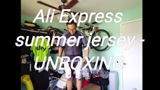 VLOG 223 (ALIEXPRESS) CYCLING JERSEY UNBOXING!