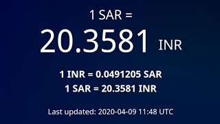 #sar to inr   #Exchange Rates # Indian Rupees   #09-Apr-2020   03:00 pm   #Gulf tech   #Tamil   #HIG