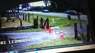 Acidente em frente minha casa br 280 km 18 linguado nossas cameras filma a colisão