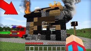 Я НАШЁЛ ЭТО В СГОРЕВШЕМ ДЕРЕВЕНСКОМ ДОМЕ В МАЙНКРАФТ 100 ТРОЛЛИНГ ЛОВУШКА Minecraft ПОЖАР