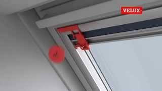 Zcela zatemňující roleta VELUX DKL návod na montáž, zaluzie-rolety.com