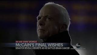 John McCain Dies at 81 AGENDA IN FULL AFFECT!