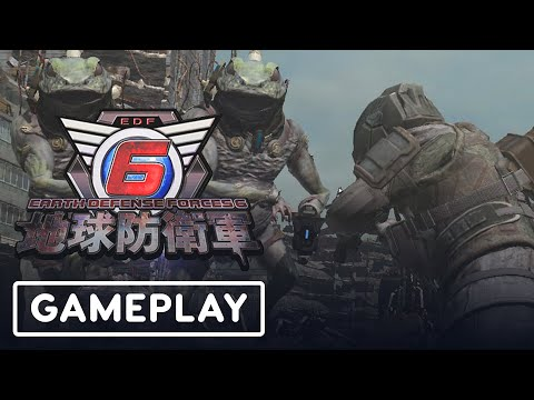 Earth Defense Force 6 - 8 Minutes of Gameplay (Japanese VO) | TGS 2020