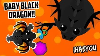 MOPE.IO CUTE BABY BLACK DRAGON vs COLOSSAL DRAGON!! // SEARCH FOR THE DAD!  (Mope.io Story)