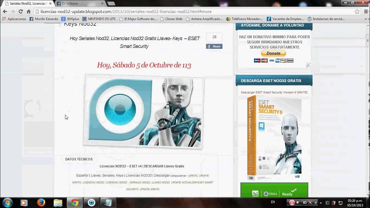Activar antivirus nod32 gratis pagina de licencias peru gratis