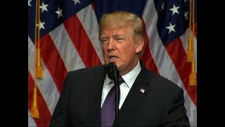 "U.S. President Donald Trump says a new era of competition is underway and that the U.S. will follow his 2016 campaign doctrine of ""America First."" (The Associated Press)"