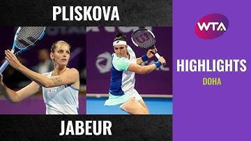 Karolina Pliskova vs. Ons Jabeur | 2020 Doha Third Round | WTA Highlights