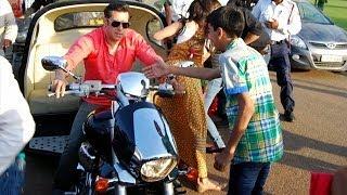 Salman Khan Rides Suzuki Intruder Attached With Volkswagen Beetle !
