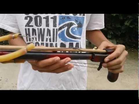 Homemade spearfishing gun