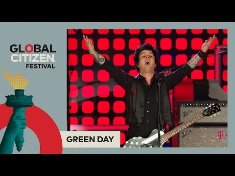 Green Day Perform Boulevard of Broken Dreams  Global Citizen Festival NYC 2017
