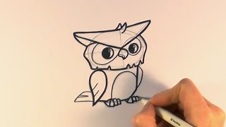 How to Draw a Cartoon Owl From Animal Jam - zooshii Style