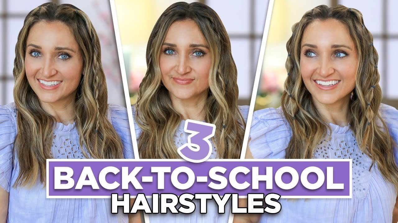 3 Cute MINI ACCENT BRAID Looks | Back to School Hairstyles