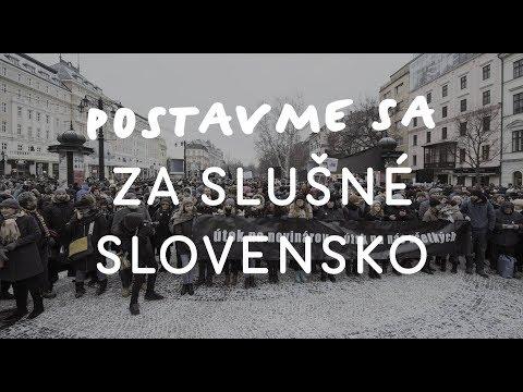 NAŽIVO: Postavme sa za slušné Slovensko