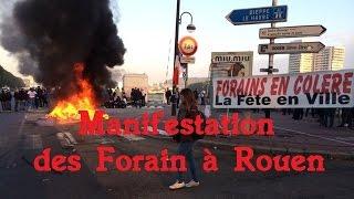 Manifestation des forains à Rouen (13/10/2015)