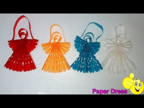 How To Make Paper Dress - Showpiece (Paper Frock)