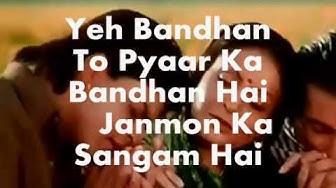 Yeh Bandhan To-Modified with Sad Version-Karaoke & Lyrics-Karan Arjun