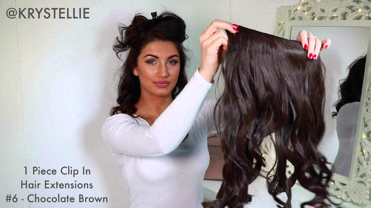 How to 1 piece clip in hair extension by krystellie youtube pmusecretfo Images