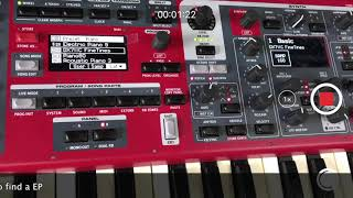Nord Stage 3 - Just play4 - How to create a Workship pad with NS3 and Triple Pedal