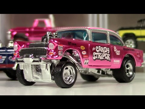Hot Wheels Candy Striper And Super Th 55 Bel Air Gasser Youtube