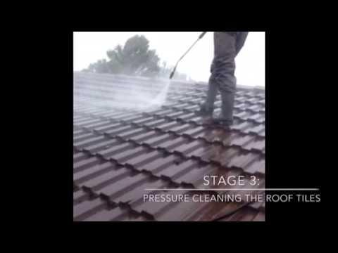 Roof tile restoration process Melbourne | H&R Roofing Services