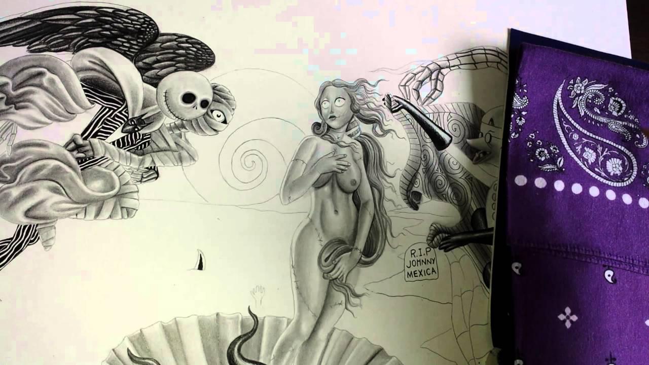 Kunstunterricht Für Jugendliche Und Erwachsene Zeichnen Die Geburt Der Venus Halloween Stil