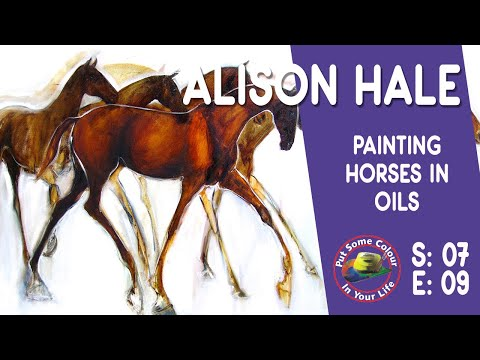 Fine Art Tips on How to Paint Horses in Oils with Alison Hale on Colour In Your Life