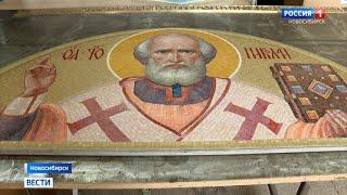Новосибирские художники работают над созданием мозаики для кемеровского храма