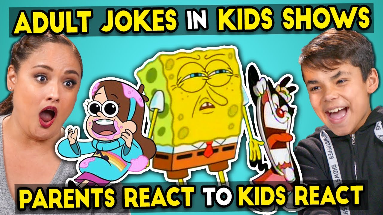 Parents React To Kids React To Funny Adult Jokes In Kids Shows Youtube