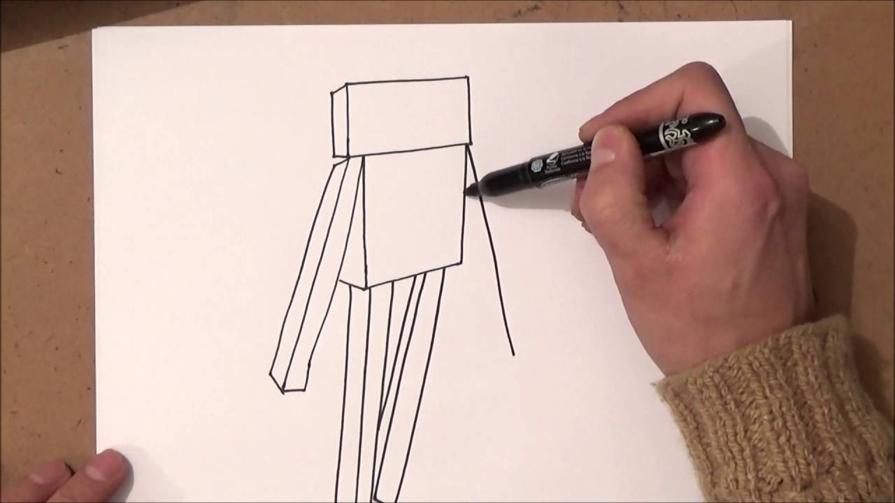 Come Disegnare Enderman Di Minecraft Passo Dopo Passo Youtube