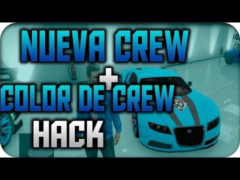 GTA V NUEVA CREW +PINTURA HACK DE CREW GTA V online trucos -Davidstar9x