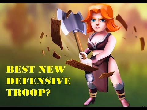 Best New Clan Castle Troops? Max Valks For CC Defense Clash Of Clans In Action