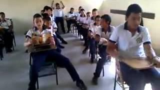 School bus driving in classroom