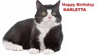 Karletta  Cats Gatos - Happy Birthday