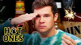 Download Adam Devine Gets Patriotic While Eating Spicy Wings | Hot Ones Mp3 and Videos