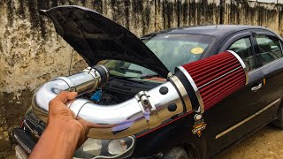 Car Air Filter System For All Cars || Racing Air Intake || Sound test || Techno khan