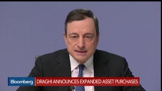 ECB's Mario Draghi Announces Trillion-Euro QE Plan