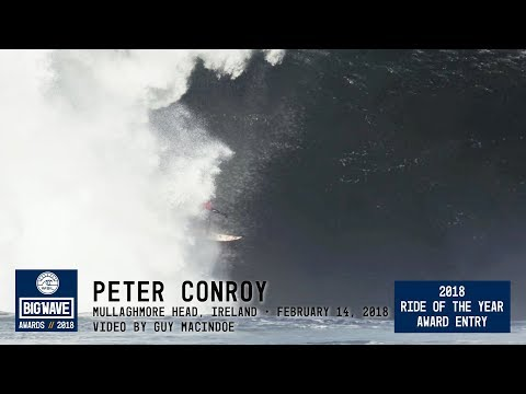 Peter Conroy at Mullaghmore Head  - 2018 Ride of the Year Award Entry - WSL Big Wave Awards