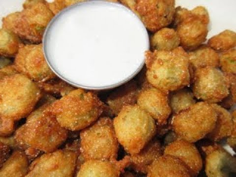 FRIED OKRA in 3 minutes  - Learn how to FRY OKRA Recipe Demonstation