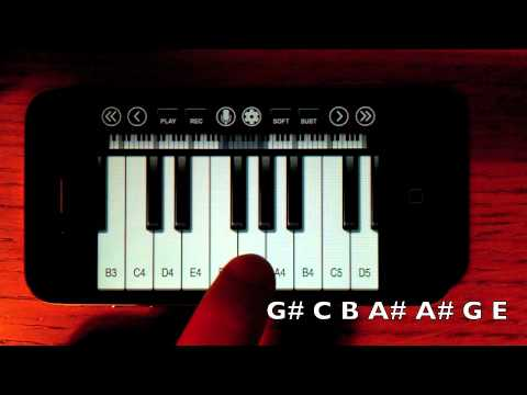 Harry Potter Theme iPhone/iPod Touch Piano TUTORIAL