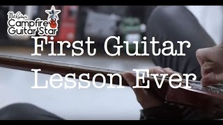 First guitar lesson ever | Guitar action, Tuning the guitar and more