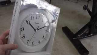 Geneva Clock Co 8001 Advance Wall Clock (white) Unboxing