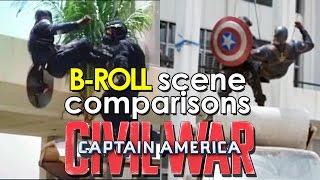 Captain America: Civil War (2016) B-ROLL and movie - scene comparisons