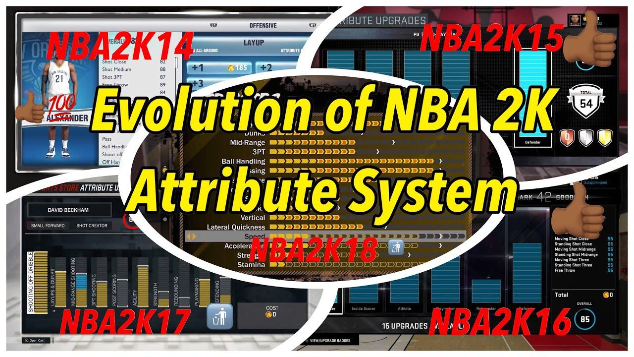 Evolution of NBA 2K Attribute System (NBA 2K14- NBA 2K18 ...  Nba 2k14 Graphics Comparison