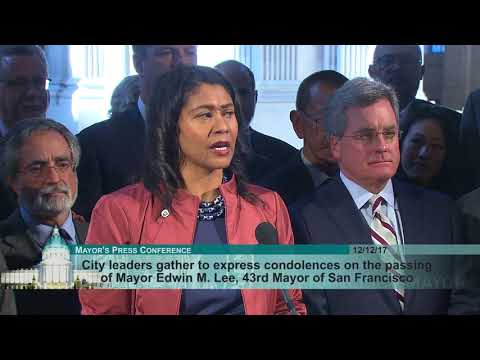 City Officials Express Condolences on Passing of Mayor Edwin M. Lee