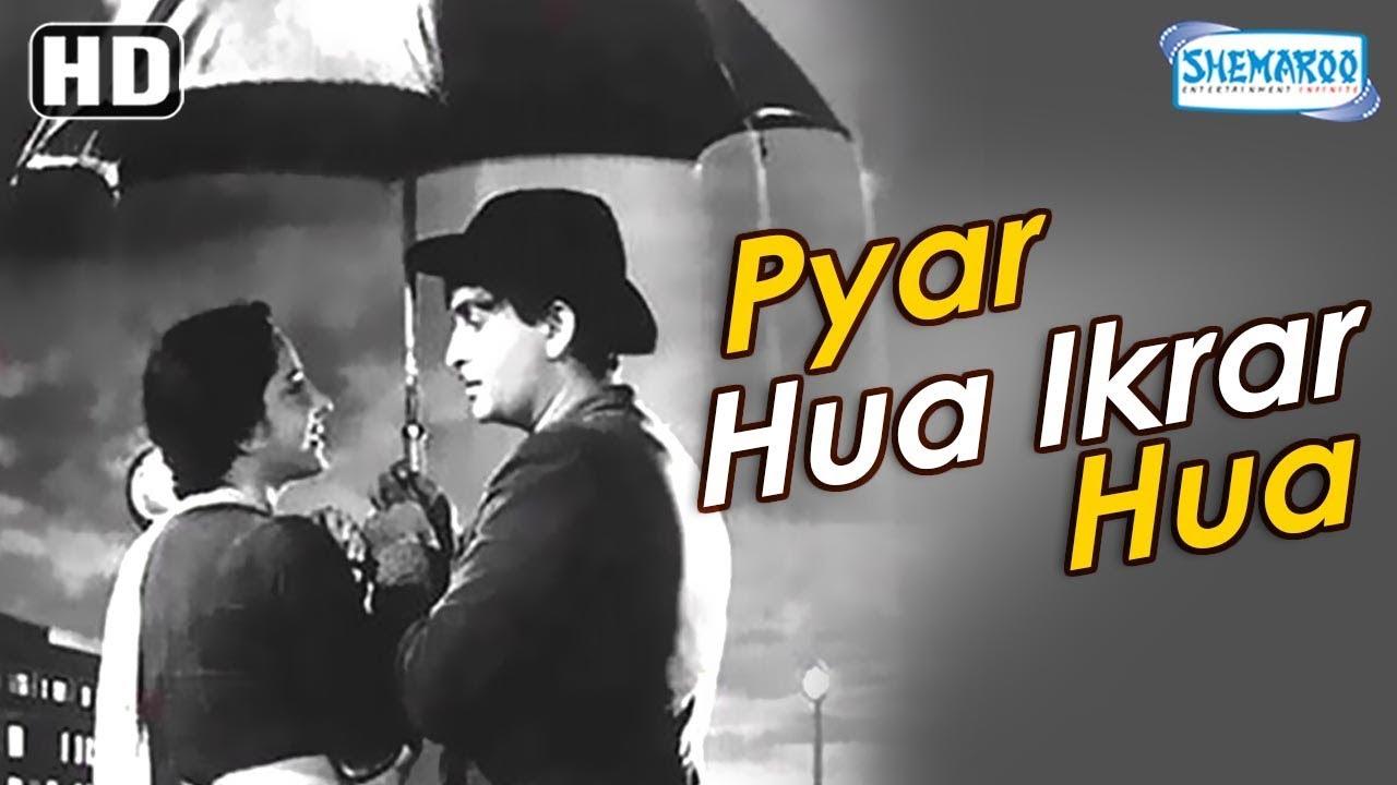 Download Best Rain Song   Shree 420   Pyar Hua Ikrar Hai   Raj Kapoor & Nargis   Bollywood Romantic Song