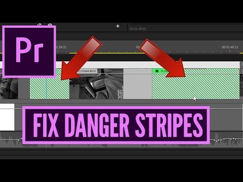 How To FIX Danger Diagonal Stripes in Premiere Pro CC