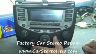 How to Honda Accord Radio Car Stereo Bose COdE Repair replace cd