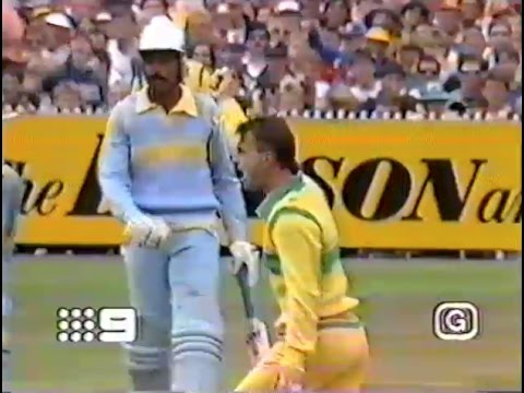 1986 Australia v India Second ODI Final (Benson & Hedges World Series Cup cricket)